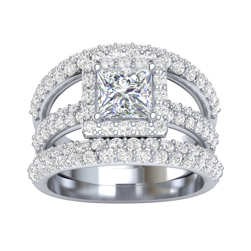 exquisite diamond bridal jewelry
